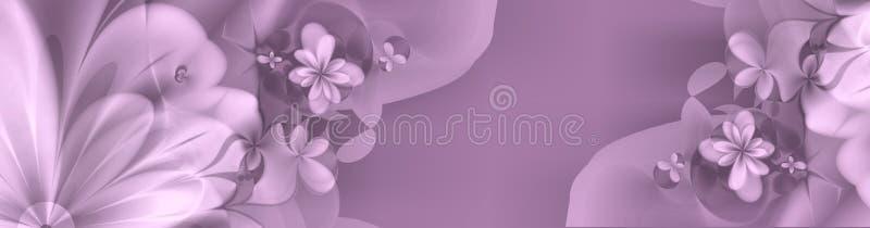 djupa blom- pinkspurples för baner stock illustrationer