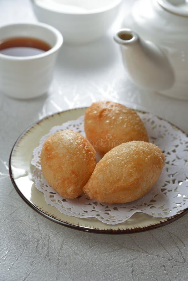 Djupa Fried Pork Dumpling arkivbild