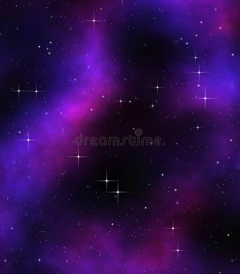 djupa stjärnor för ytterkant avstånd royaltyfri illustrationer