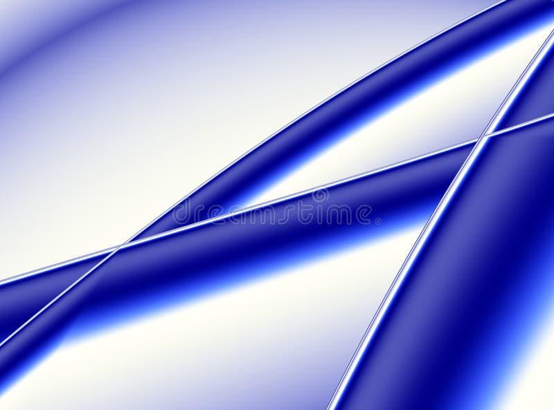 Djupblå modern abstrakt fractalkonst Vibrerande bakgrundsillustration med den dekorativa korsningen band Idérik grafisk mall vektor illustrationer