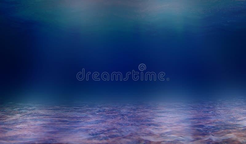 Djupet av havsvatten, blick till och med djupet av havet arkivbilder