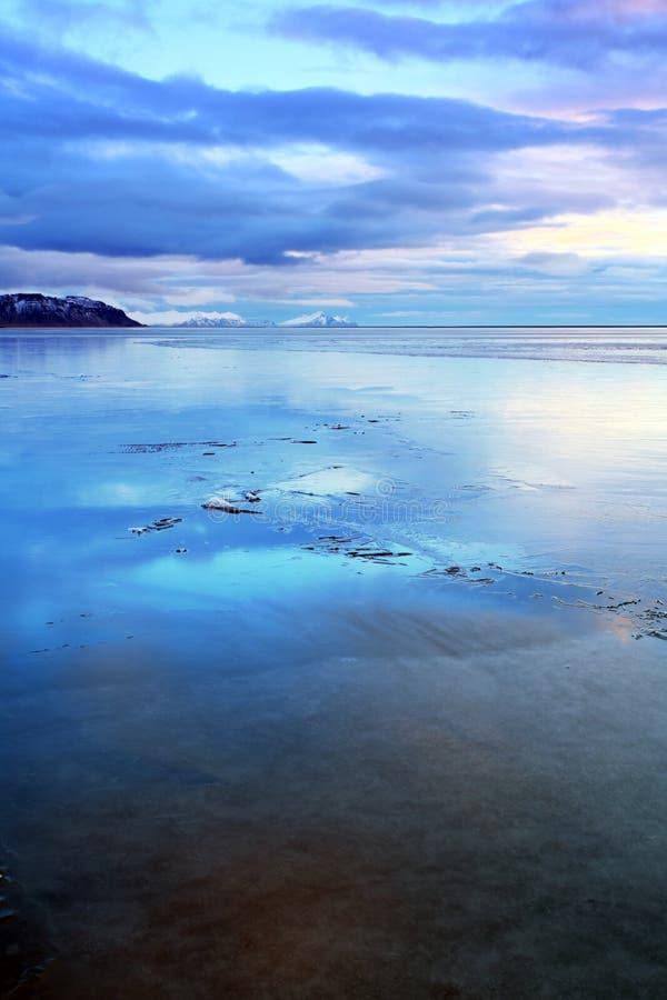 Djupfryst Atlantic Ocean Island arkivfoto