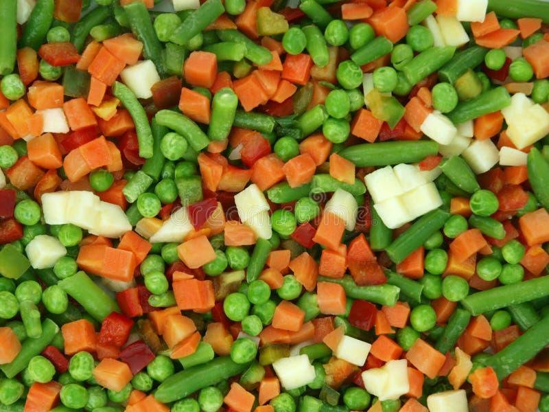 djupfryst blandade grönsaker fotografering för bildbyråer