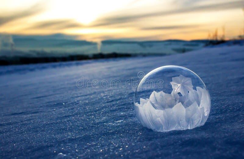 Djupfryst bubbla royaltyfria foton
