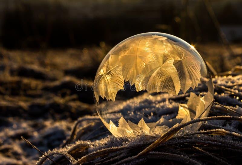 Djupfryst bubbla 2 arkivfoto