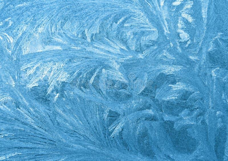 djupfryst fönster arkivbild