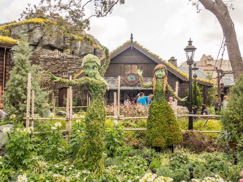 Djupfryst festival för trädgård för TopiaryEpcot blomma fotografering för bildbyråer