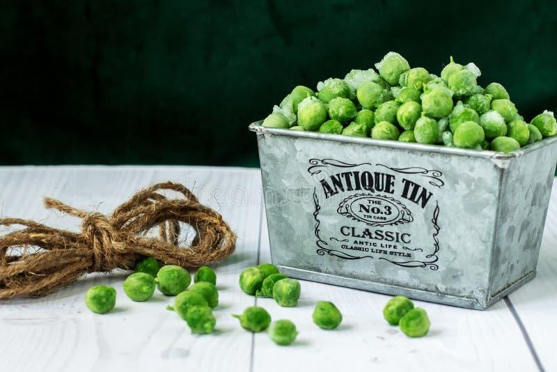 djupfryst gröna ärtor fotografering för bildbyråer