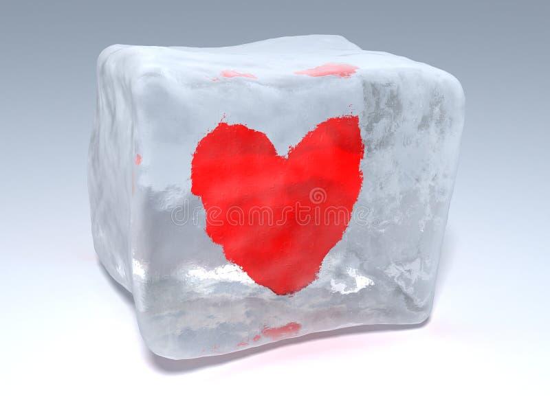 djupfryst hjärta stock illustrationer