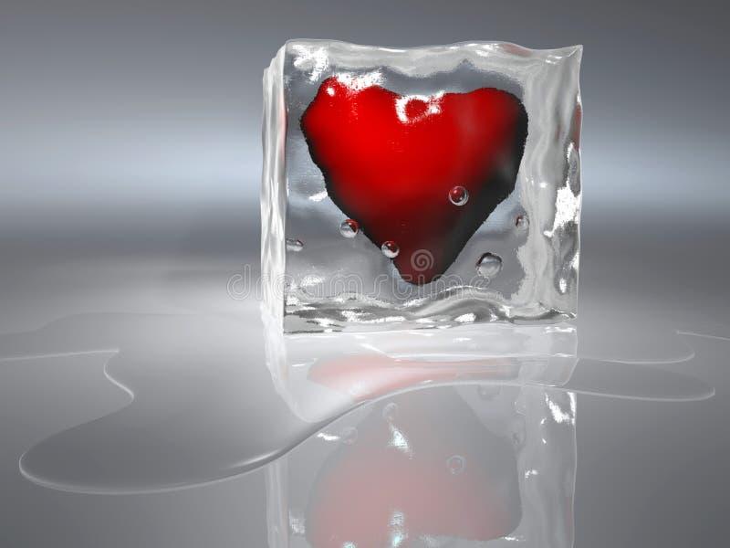 djupfryst hjärta royaltyfri illustrationer