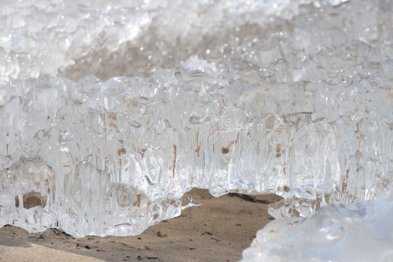 Djupfryst iskall Östersjön kust 8 arkivbild
