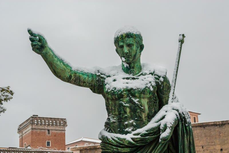 Djupfryst kejsare Augustus royaltyfria foton