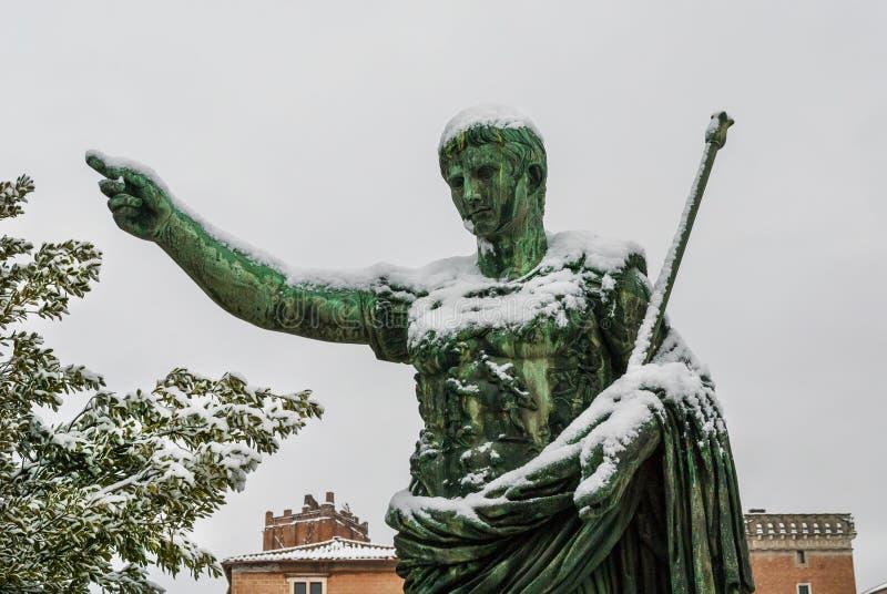Djupfryst kejsare Augustus arkivbilder