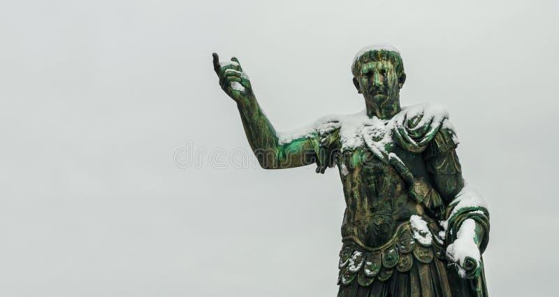 Djupfryst kejsare Trajan arkivbild