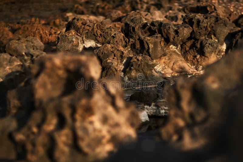 Djupfryst lava i tenerife arkivbilder