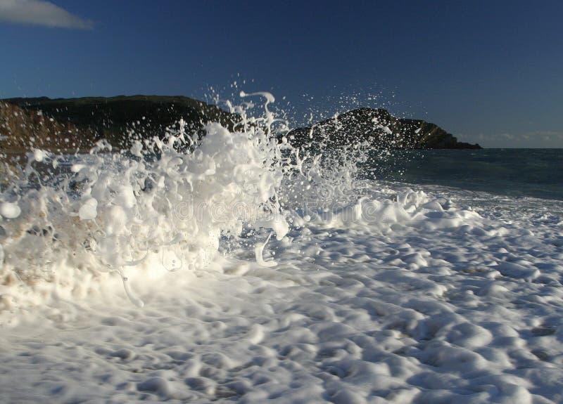 djupfryst wave arkivbild