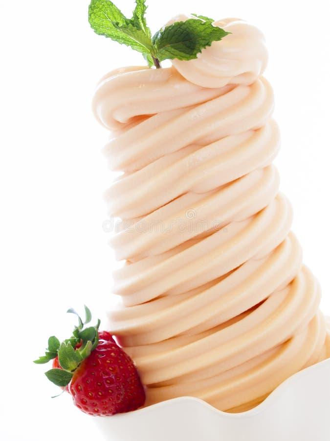 Djupfryst yoghurt royaltyfria bilder