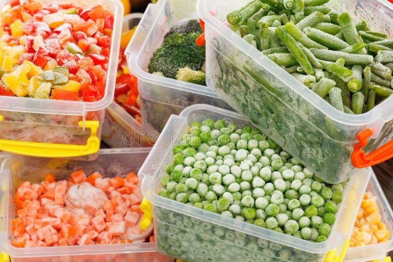Djupfrysta foodsreceptgrönsaker royaltyfri bild