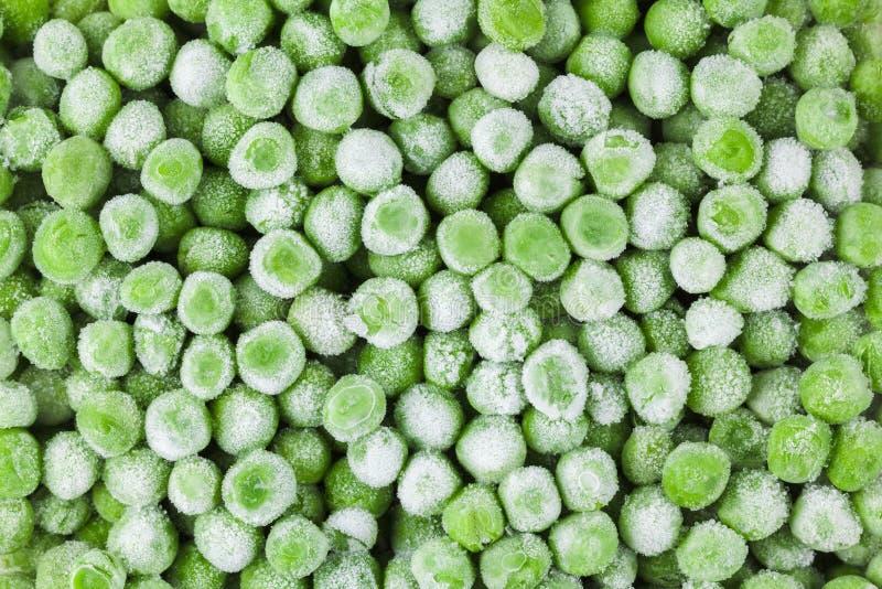 Djupfrysta nya grönsaker, bakgrund för grön mat, närbild, bönor, ärtor banta sunt fotografering för bildbyråer