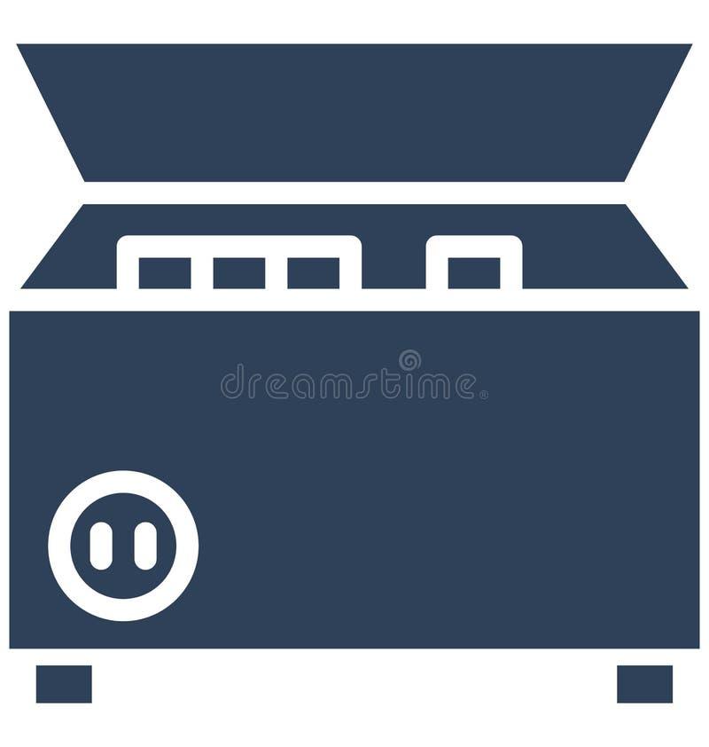 Djupt - frys, elektronik isolerad vektorsymbol som kan lätt redigeras i något format eller ändras stock illustrationer