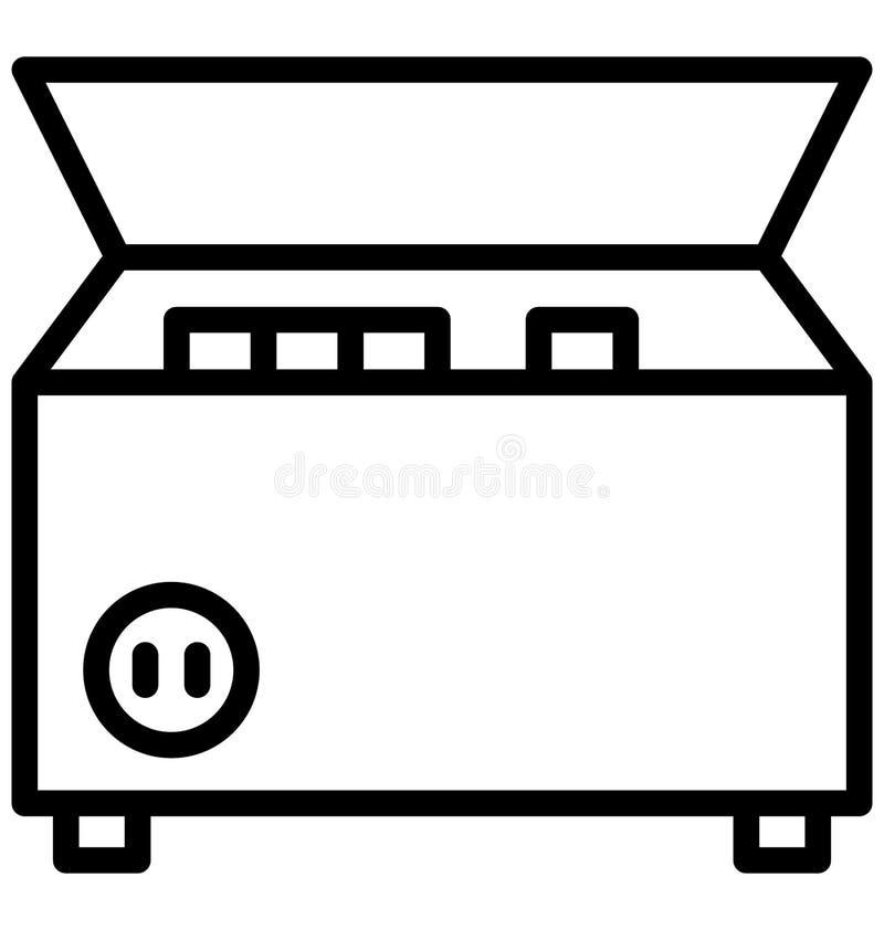 Djupt - frys, elektronik isolerad vektorsymbol som kan lätt redigeras i något format eller ändras royaltyfri illustrationer