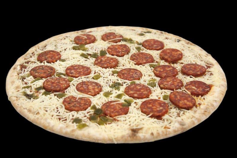 djupt - fryst pizza royaltyfria foton