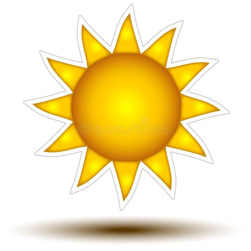 Djupt - gult Sun knappbegrepp