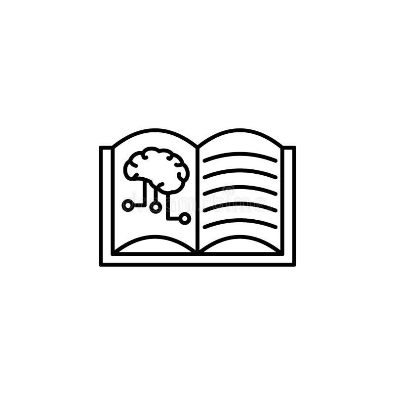 Djupt lära hjärnsymbolen för konstgjord intelligens Beståndsdel av symbolen för konstgjord intelligens för det mobila begreppet o stock illustrationer