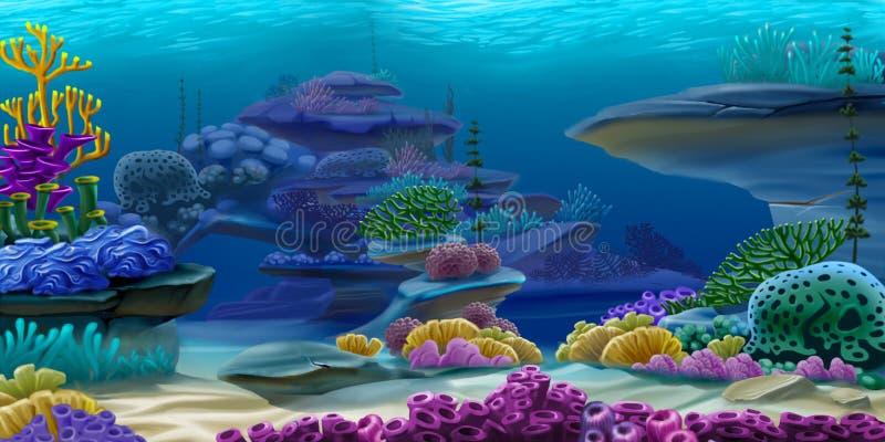 djupt under vatten royaltyfri illustrationer