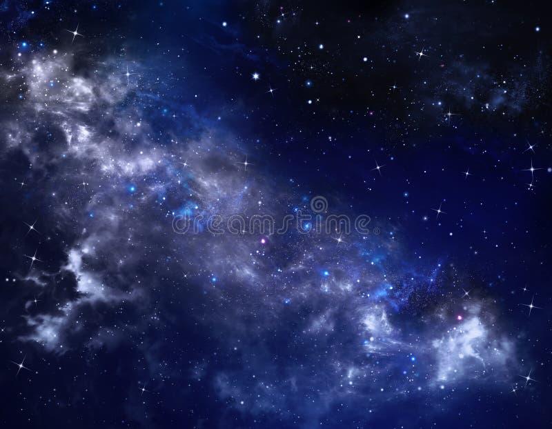 Djupt utrymme, abstrakt stjärnklar bakgrund royaltyfri illustrationer