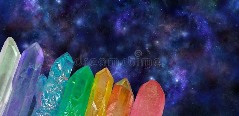 Djupt utrymme kosmiska Aura Wands arkivfoton