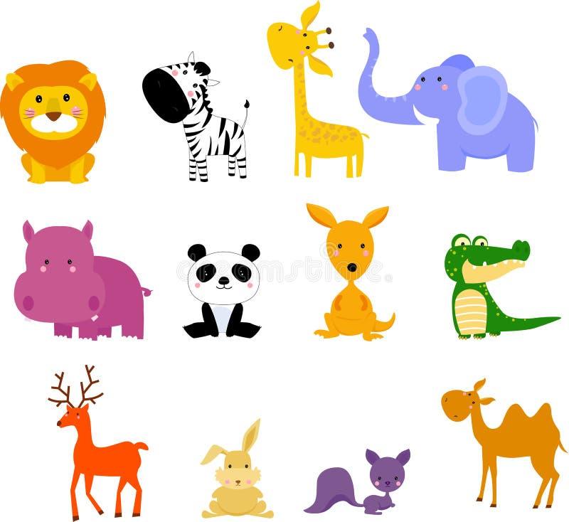 djur royaltyfri illustrationer