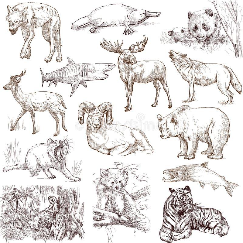 Djur 1 stock illustrationer