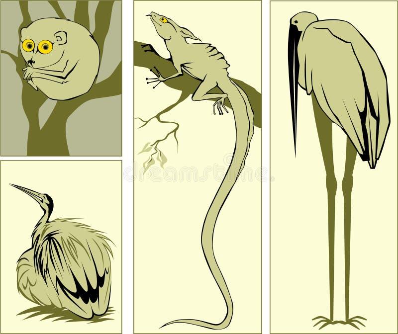 djur stock illustrationer