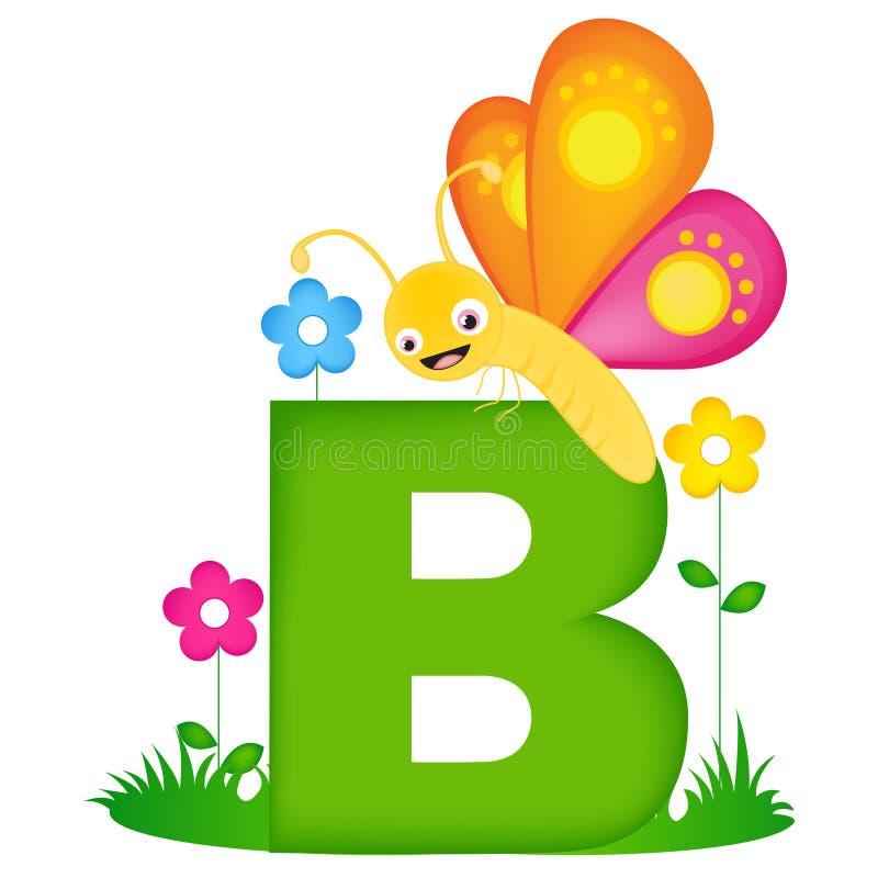 Djur alfabetbokstav B stock illustrationer