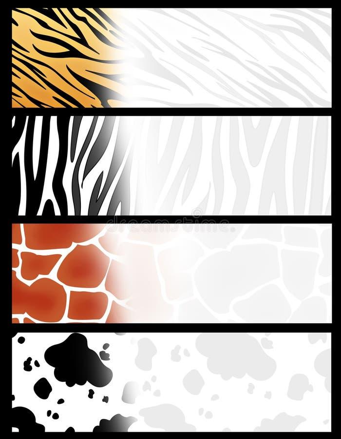 djur banertitelrad vektor illustrationer