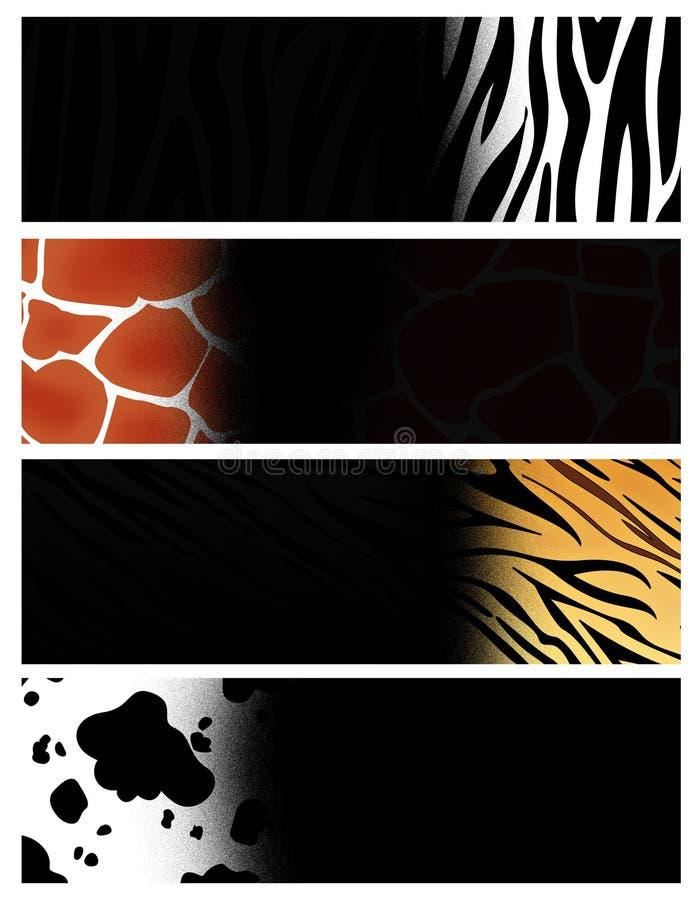djur banertitelrad royaltyfri illustrationer