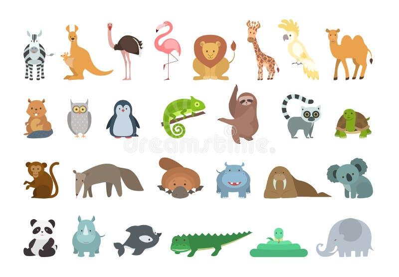 djur behandla som ett barn seten vektor illustrationer