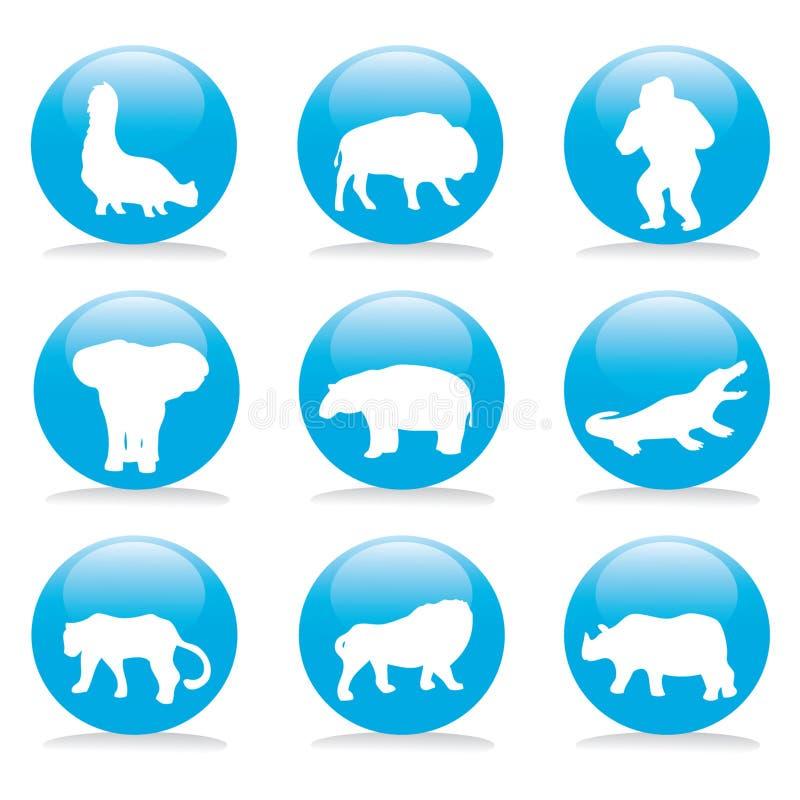 djur button set wild arkivfoton