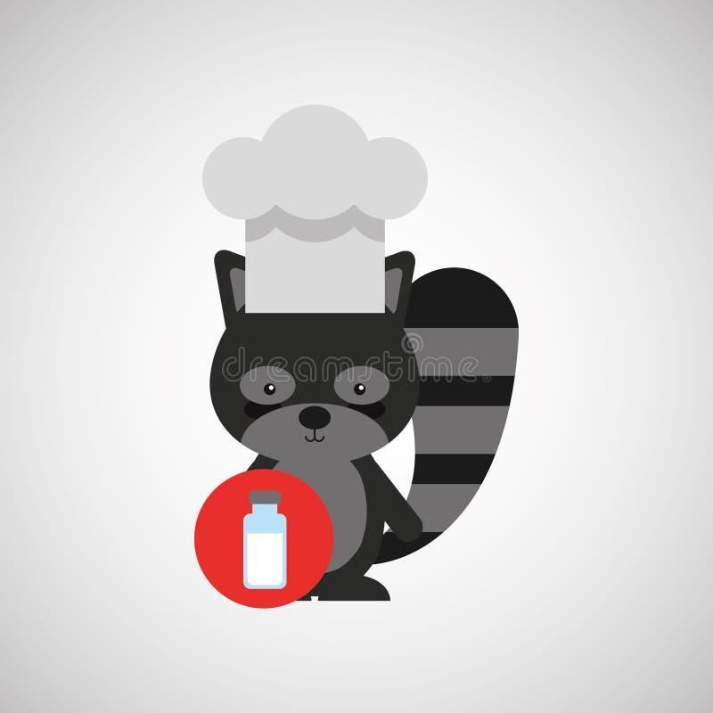 djur design för kock royaltyfri illustrationer