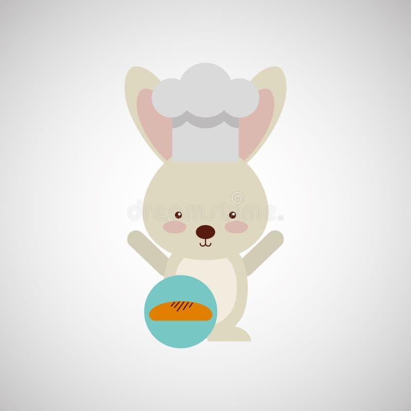 djur design för kock stock illustrationer