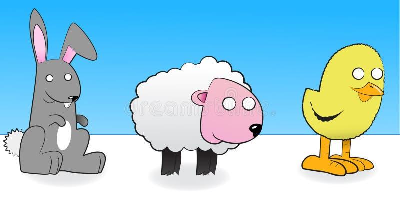 djur easter vektor illustrationer