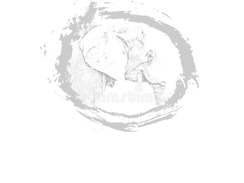 Djur elefantillustration arkivbilder