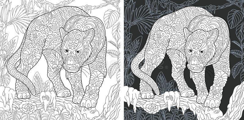 djur färgläggningsida vektor illustrationer