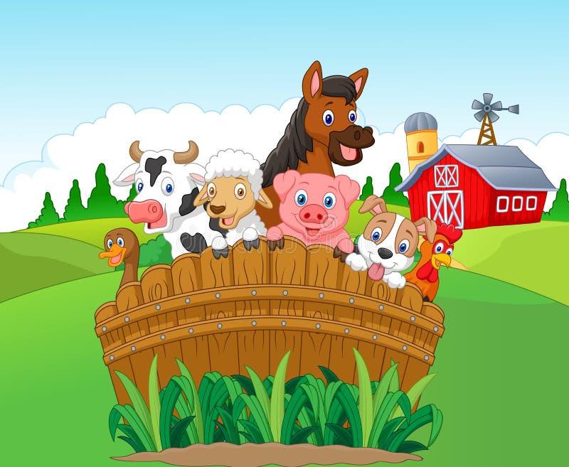 Djur för tecknad filmsamlingslantgård vektor illustrationer