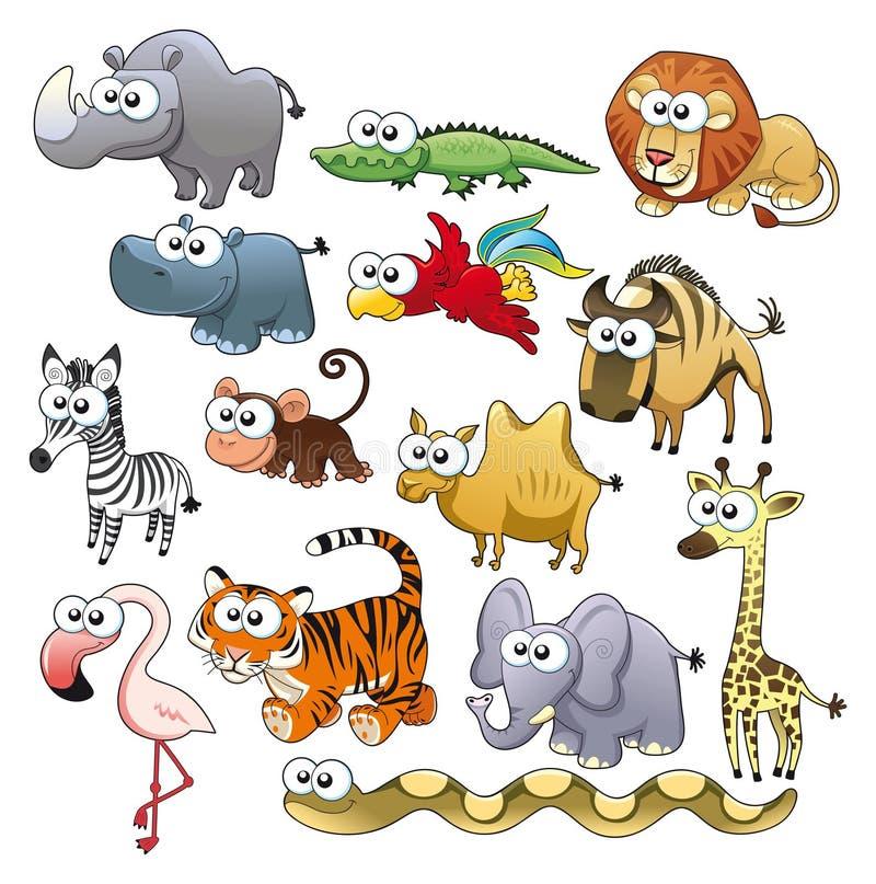 djur familjsavannah royaltyfri illustrationer