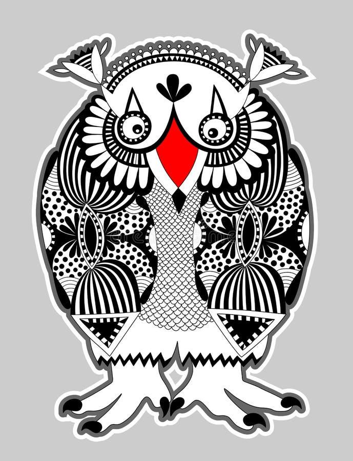 Djur fantasiroll, uggla royaltyfri illustrationer
