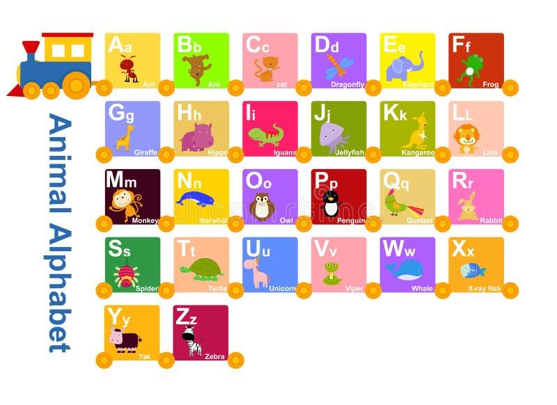 Djur från djurt alfabet stock illustrationer