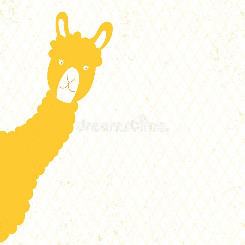 Djur gul lama för vektorillustration arkivfoton
