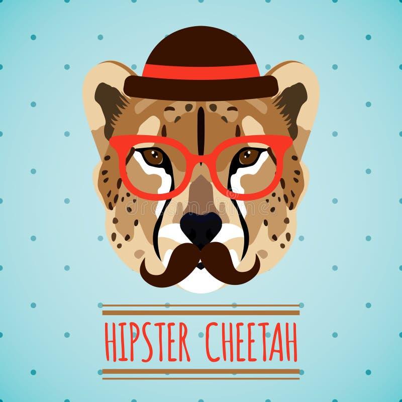 Djur hipsterstående royaltyfri illustrationer